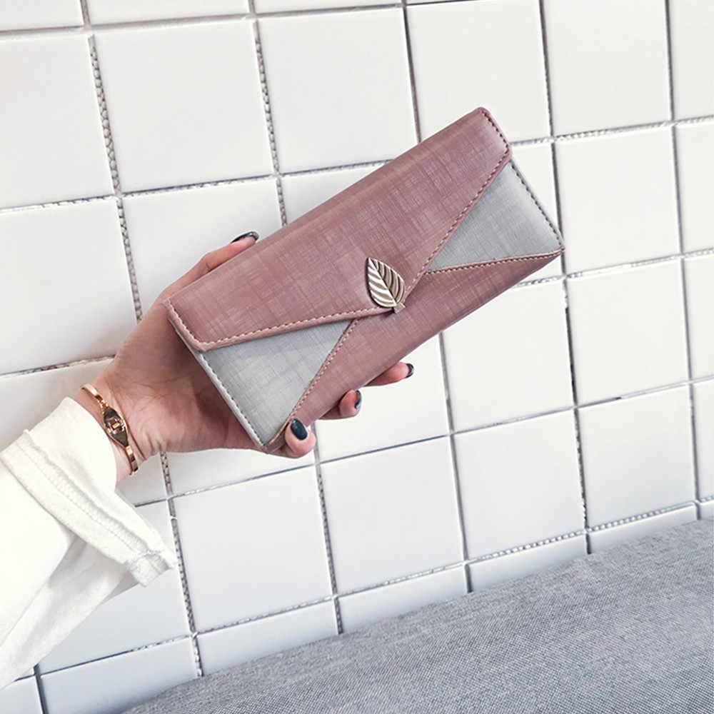 Aelicy из искусственной кожи для женщин Мода цепи лоскутное длинный кошелек 2019 новый дизайн модные мужчин кожаный кошелек-клатч Сумки