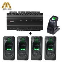TCP/IP Four Doors Access Control System Fingerprint Access Control Panel With Fingerprint Reader And Fingerprint Sensor Inbio460