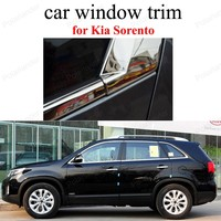 Tiras de aço inoxidável estilo do carro janela guarnição decoração acessórios para k ia sorento|window trim|car window trimstainless steel trims -