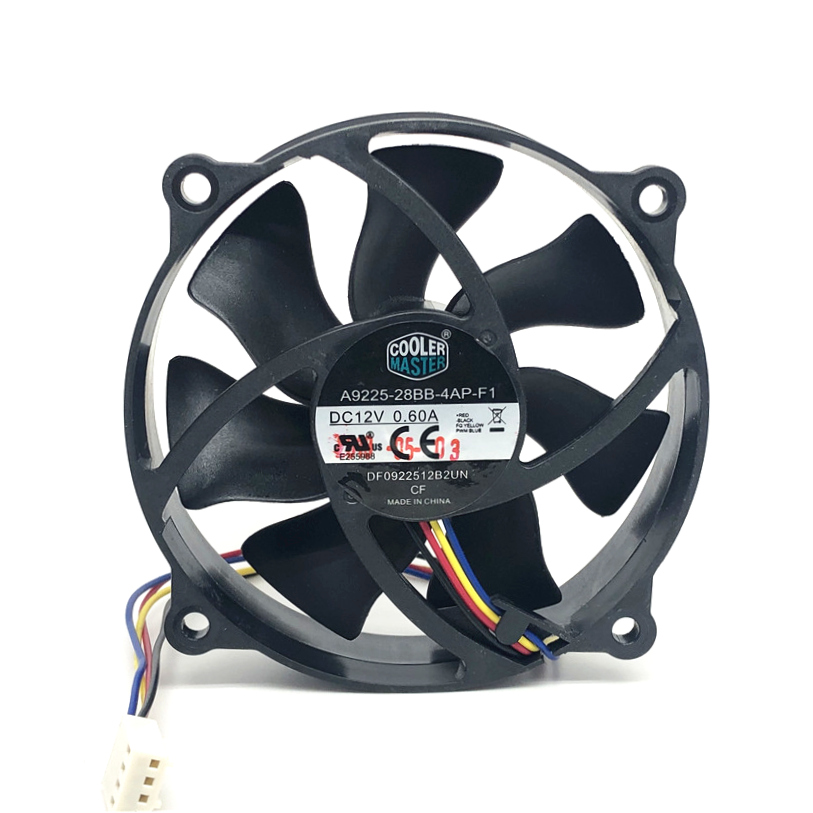 5pcs Original Cooler master 9025 90MM 90x90x25mm Circular fan 72mm hole pitch For 775 CPU Cooling fan 12V 0.6A with PWM 4pin image