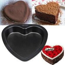 7-дюймовый сердце-Форма d форма для выпечки пирожных углерода Сталь Антипригарная посуда для выпечки кекса Кухня Алфавит Форма форма для печенья 3,28