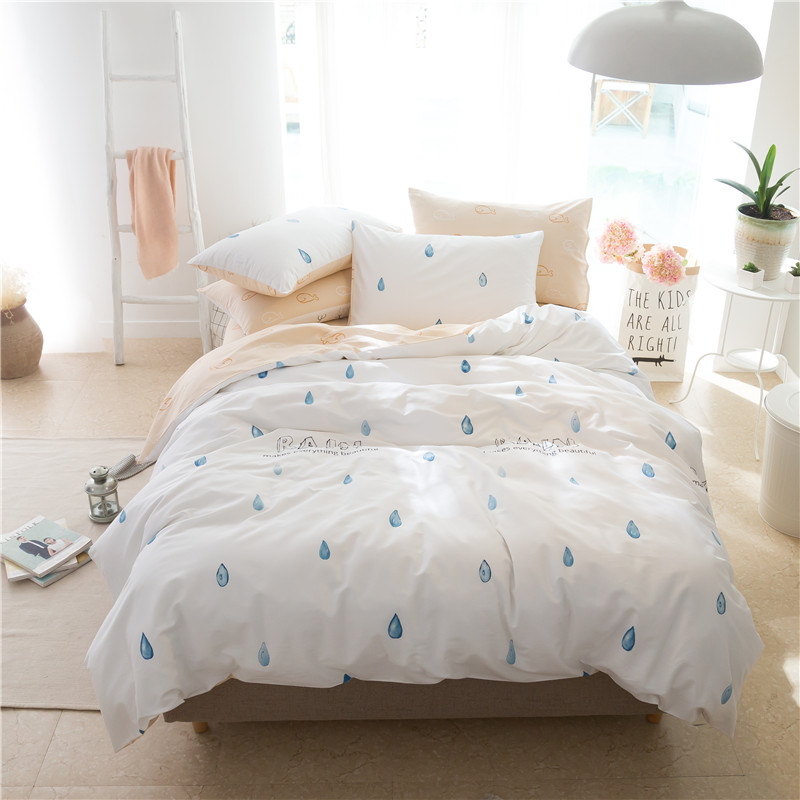100% cotton brife style Bedding set king queen twin size cute Duvet Cover set for kids girls boys bed sheet set pillowcases