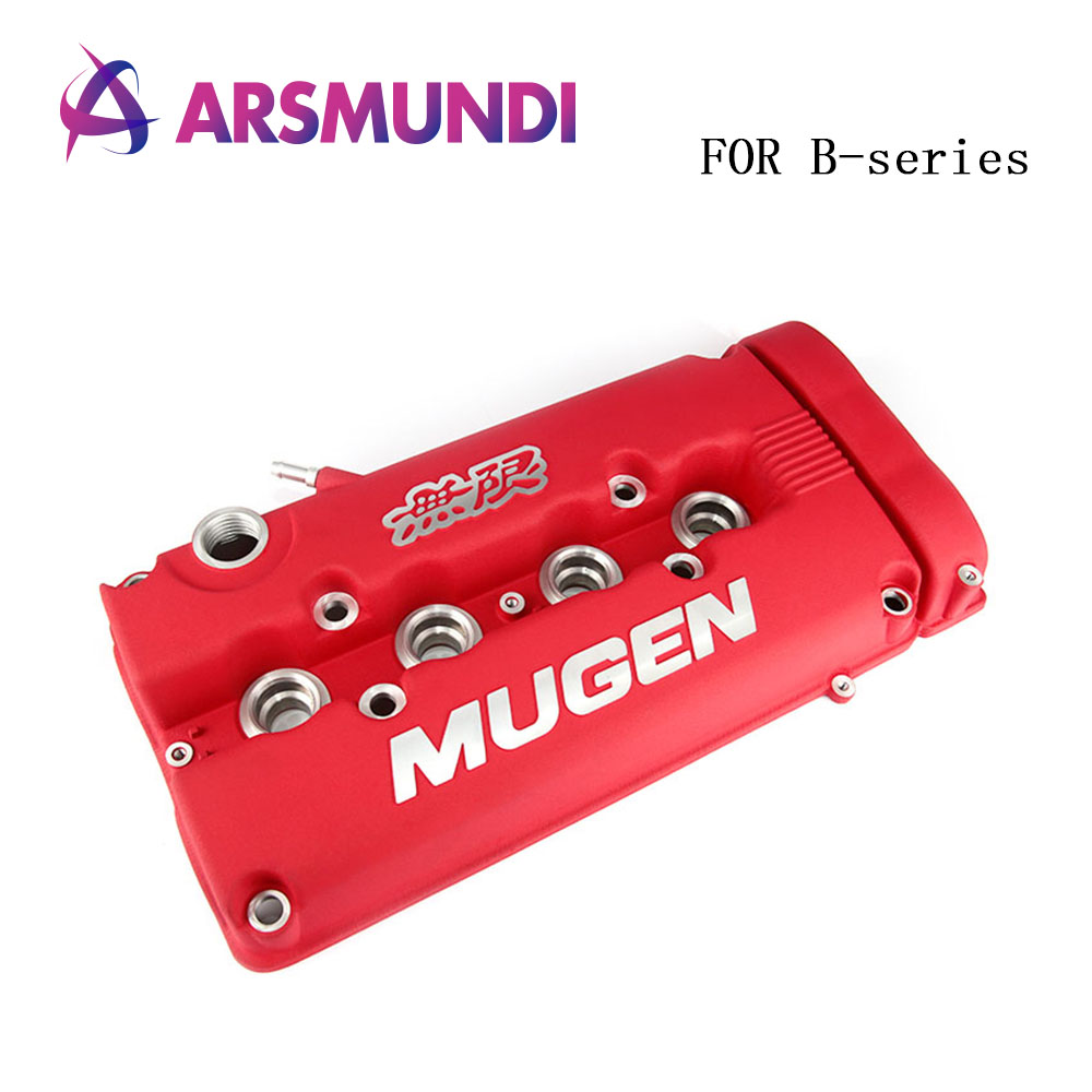 Red MUGEN Racing Rocker Valve Cover for Honda Civic B16 B17 B18 VTEC B18C GSR