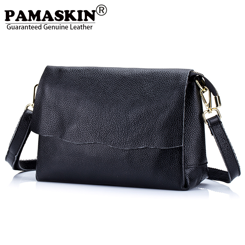 PAMASKIN 100% Guaranteed Cow Leather Brand Designer Multi-function Female Single Shoulder Bag Women Messenger Bags Lady Handbags christie a a caribbean mystery