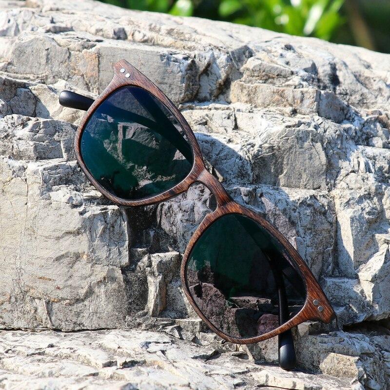 Photochrome Gläser Spiegel Fertig Männer Flachen Und Nachahmung Holz Rahmen Grau Frauen Neue Myopie dunkler Modelle Für Brille Brown Myopie 7xZAngwOO