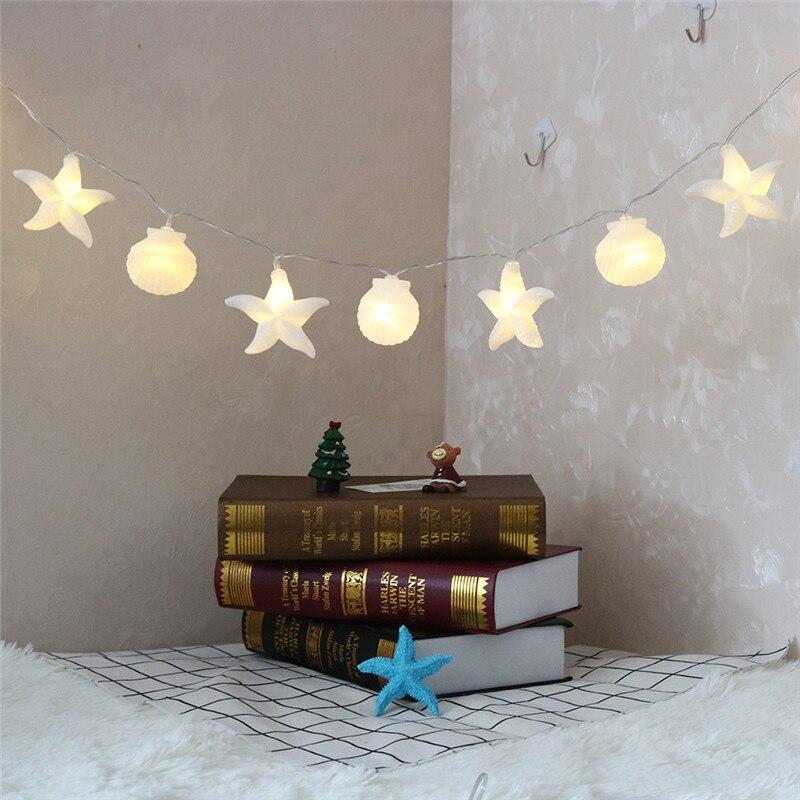 DELICORE Home Collection Muscheln string lichter lichterketten ozean ...