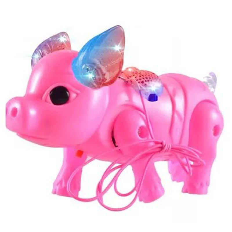 Cute Electric Music Walking Pig Toys Led Light Glow Electronic Pets Lantern Toy Children Kids Baby Girl Boy Educational Toys