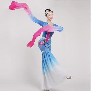 (0145) jiangnan ancient beauty Caiwei Plucking dance long sleeves costumes classical dance costumes of adult women hanfu
