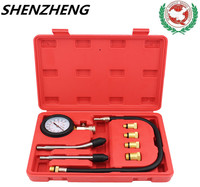 Compressor Gauge Meter Test Tools Pressure Compression Tester Leakage Diagnostic Compressometer Tool Auto Briefcase