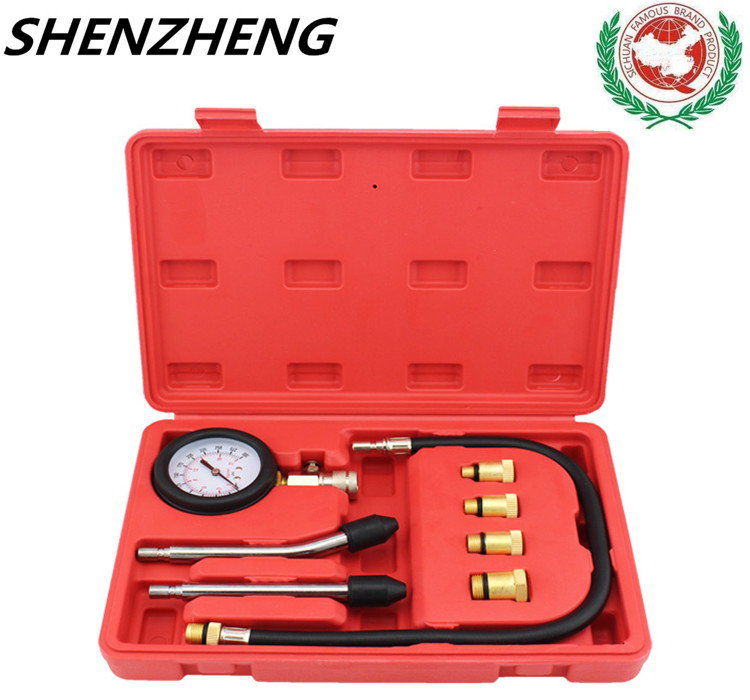 good Pressure Gauge Compression Tester Leakage Diagnostic compressometer tool CAR/1 Auto briefcase TIRE