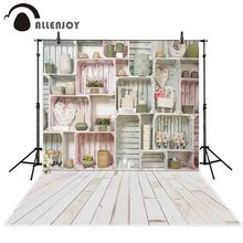 Allenjoy photography background Spring wood shelf wall flower heart backdrop photo studio shoot prop photocall photophone decor allenjoy blue elephant photo background baby shower birthday photography backdrop photocall shoot photo studio prop fabric