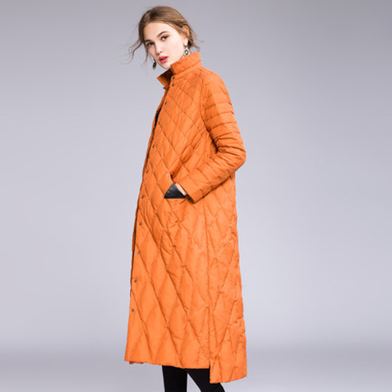 Women Overknee Long Thin   Down   Jackets Winter Light   Down     Coats   Elegant Female Jacket Overcoats 2018 New Winter Clothes CH807