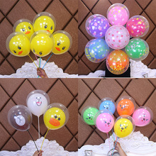 Yooap 10PC cute double balloon birthday party decoration cartoon animal childrens day