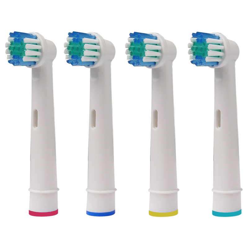 4PCS Electric Toothbrush Replacement Heads For Oral B Vitality Sensitive 3D Pro Health Profesional Care White Clean New Design image