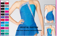 Crystal Custom Figure Skating Dress Girls New Brand Ice Skating Clothes For Competition DR4642