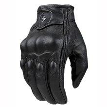 Ретро перфорированные кожаные перчатки мотоцикла велоспорт мото мотоцикл защитные передач мотокроссу перчатки зима человек женского пола от дороги