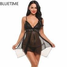 Сексуальная сорочка ночная сорочка белье нерегулярные подол мини-платье кукла рубашка прозрачная ночная рубашка Для женщин Неглиже Женский Спокойной