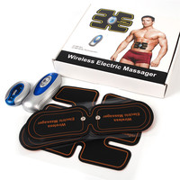Wireless Electric Massager Smart EMS Abdominal Muscle Trainer TENS Unit Electrotherapy Back Pain Relief ABS Stimulator