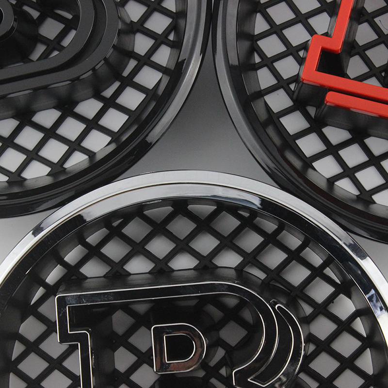 Brabus B Style Front Grille Badge Black Emblem for Mercedes Benz A B C E S Class