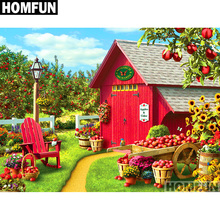 HOMFUN Full Square/Round Drill 5D DIY Diamond Painting Garden & house Embroidery Cross Stitch 5D Home Decor Gift A01690 homfun full square round drill 5d diy diamond painting garden