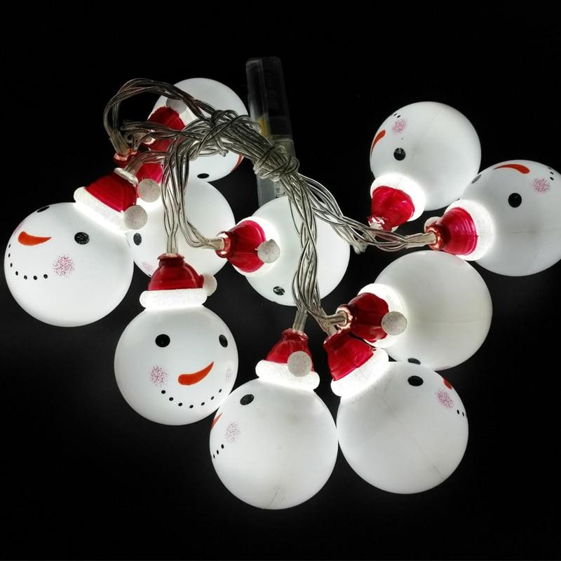 20LED Festivali hediye Kardan Adam Noel Ağacı Dekorasyon kolye - Şenlikli Aydınlatma - Fotoğraf 2