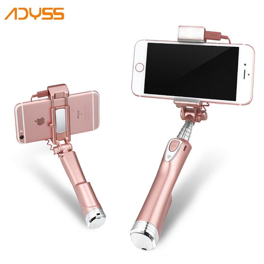 ADYSS Pal Selbst Perche Palo Pau De Selfie Stick Bluetooth Einbeinstativ Mit Spiegel Für iPhone Android Handy Universal Monopad