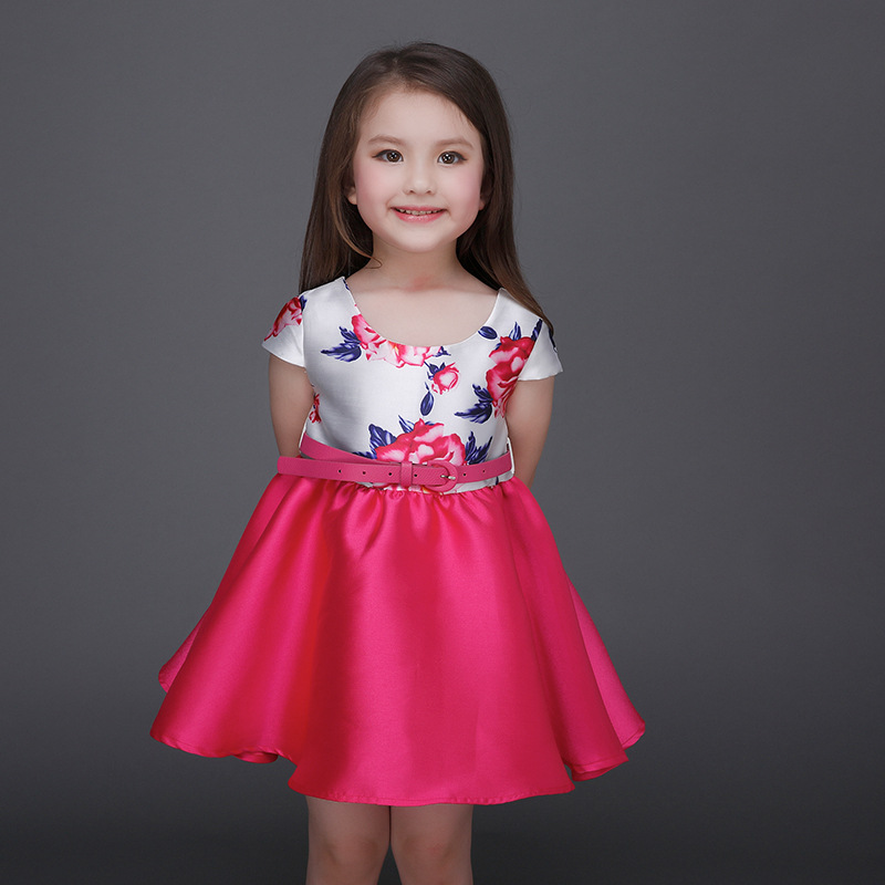 98e60d83cb1 Girls Party Formal Dresses Embroidered Flower 2017 Baby Girl Special  Occasion Princess Dress With Waistband Children Sweet Dress