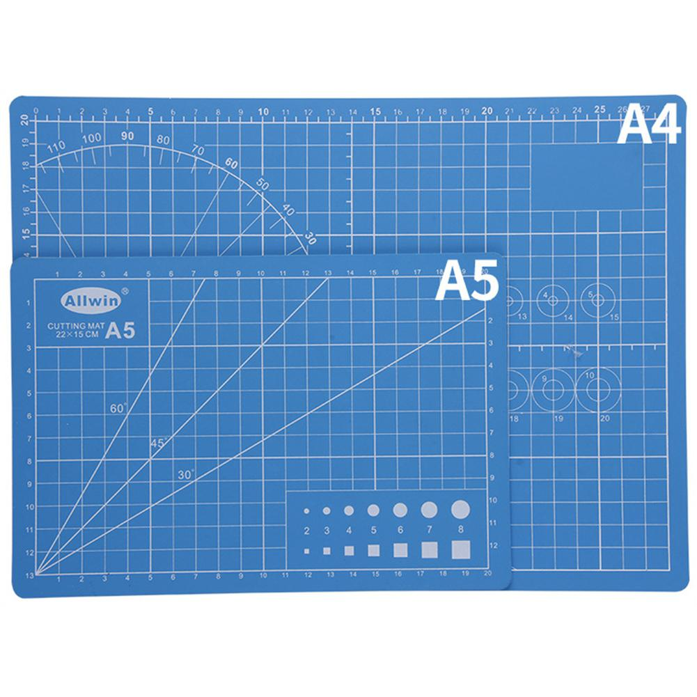 A5 Sewing Cutting Mats Double-sided Plate Design Engraving Cutting Board Mat Handmade Hand Tools Color Random R20