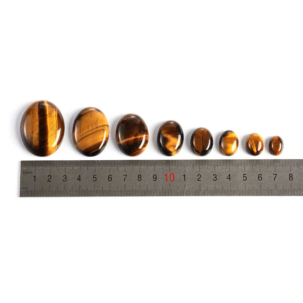 1PC Hot Yellow Tiger Eye Cabochon Bead Natural Stone CAB No Hole Fit DIY Handicrafts Reiki Jewelry Women Men Bracelet Dropship