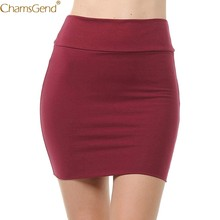 Lady's Solid High Waist Summer Skirts Womens Plus Size High Waist Long Skirts For Women Classic Simple Pencil Mini Skirt Jul(China)