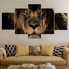 Poster Modular Modern Painting Art HD Canvas Home Living Room Framework Strong Big Lion Printing Pictures Type