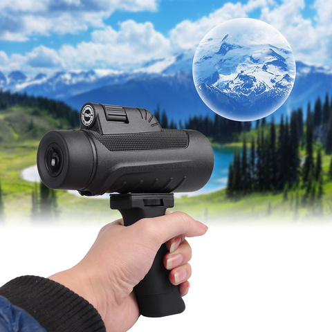 10X42 Telescope Dual Focus Monocular Scope Night Vision HD Prism Spyglass with Handle and Cellphone Clip for Wildlife 38-0011 Lahore