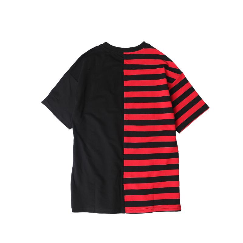 HTB1Kj6MPXXXXXbCXFXXq6xXFXXXe - Striped T-shirt 2017 Summer Hip Hop kanye west embroidery T Shirts PTC 109