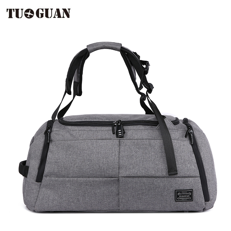 TUGUAN Multi functional Travel Bag Large Capacity Men Hand Bag Luggage Anti Theft Password Lock Backpack Travel Duffle