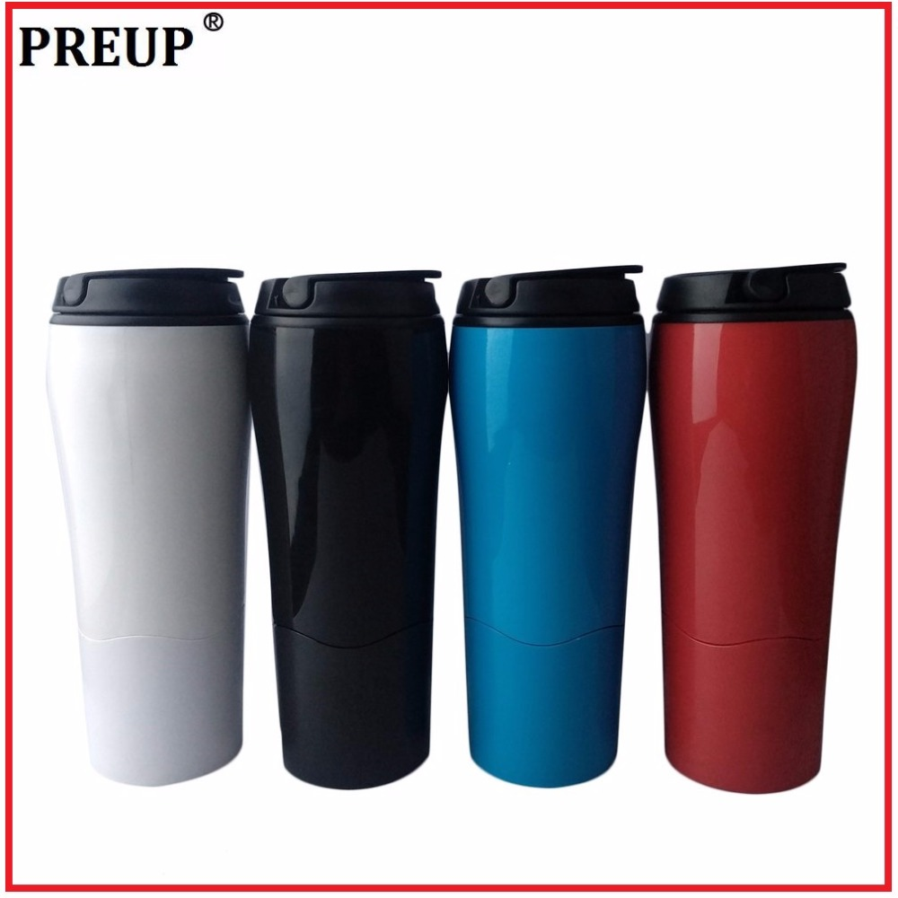 PREUP Tumbler Mighty Magic Sucker Water Bottle Bottom With Sucker Push Not Falling Down Easily Take For Office Home Travel
