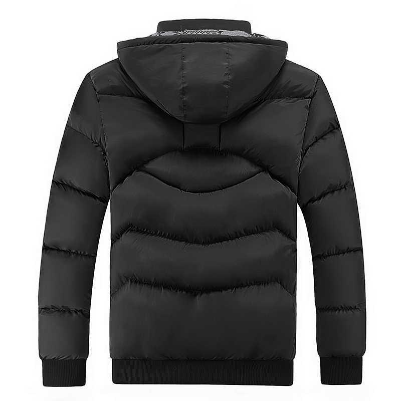 新ブランドの服冬のジャケットの男性パーカージャケット厚い男性暖かいフード付き男性のコートとジャケットファッションオーバーコート hommer