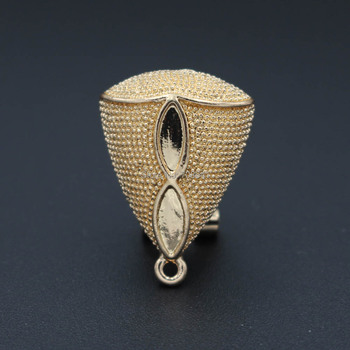 Drop Earring Post with Loop Clip Stud Earrings Accessories DIY Findings Vintage Earrings for Women 17*23mm