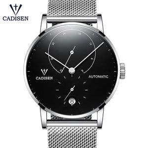 Image 2 - Cadison montre automatique en acier, horloge automatique, réserve électrique, bracelet décontracté Mesh, tendance