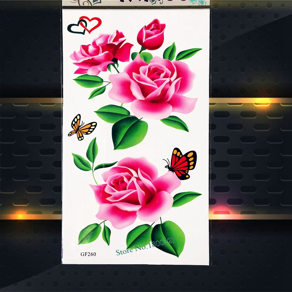 Temporary Tattoo Stickers Fake Flash Body Art Arm Tattoo Armband Women Fake Waterproof Tattoo Stickers PGF260 Sexy Summer Tattoo