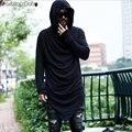 Único Designer dos homens da marca T-shirt Com Capuz de Manga Comprida Moda Casual Costume Night Club Verão camisetas Qualidade 2016 Novo