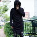 Brand Men's Unique Designer Hooded T-shirt Long Sleeve Fashion Casual Costume Night Club Summer Tee shirts Quality 2016 New