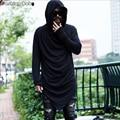 Los Hombres de la marca de Diseño Único Con Capucha Camiseta de Manga Larga Moda Casual Discoteca Traje de camisetas de Verano de Calidad 2016 Nuevo