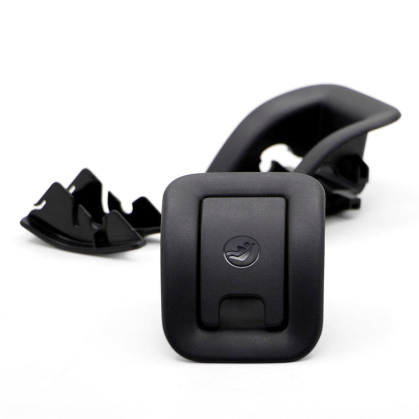 Black New Isofix Slot Trim Child Safety Hook Cover Base