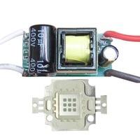 10W Square Base UV Ultraviolet 365nm LED diodes Light Parts + Input AC 85~265V Output 4~12V LED driver