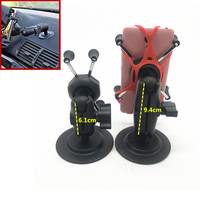 Flex Adhesive Base with 1 Inch ball + Double Socket Arm +Universal X Grip for Cell Phone Holder for Garmin TomTom ram mount