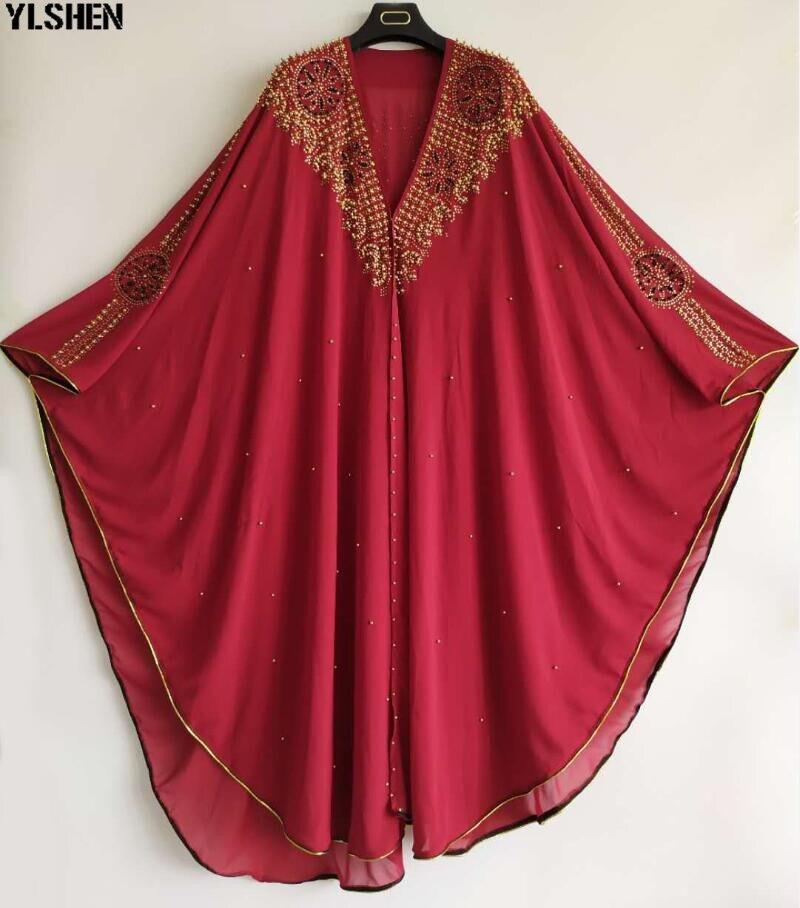 Super Size African Dresses For Women Luxury African Clothes Dashiki Diamond Hood Cape Abaya Dubai Robe Evening Long Muslim Dress