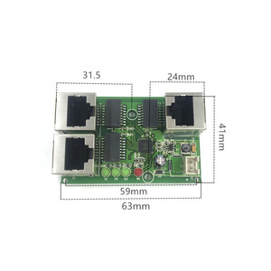 Image 4 - 工業用グレードワイド温度低消費電力ネットワークケーブルミニミニイーサネット 3 ポート 10/100 Mbps 垂直 180 degreeswitchmodule