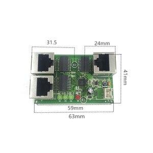 Image 4 - תעשייתי כיתה רחב טמפרטורה נמוך כוח רשת כבלים מיני מיני Ethernet 3 נמל 10/100 Mbps אנכי 180 degreeswitchmodule