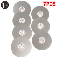 7PCS/set 150mm 6 800# 3000# Grit Diamond Grinding Disc Abrasive Wheel Coated Flat Disk Glass Stone Grinding Cutting Tool