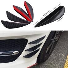 цена на ESPEEDER Universal 4pcs/set Fit Front Bumper Lip Splitter Fins Body Spoiler Canards Valence Chin Car Rubber Bumper Protector